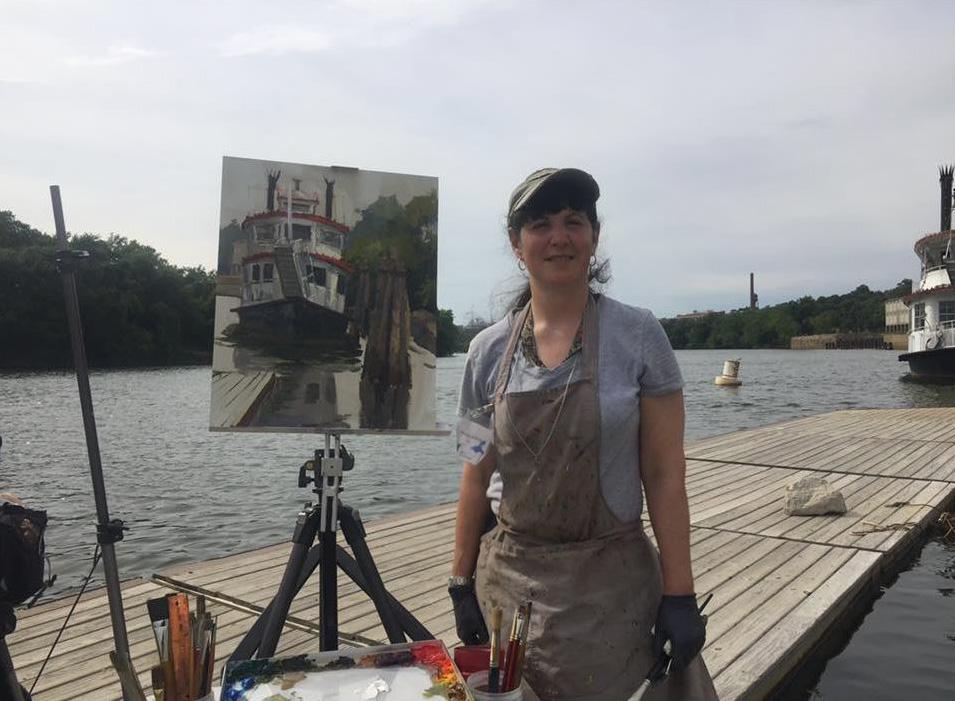 Anna Painting sternwheeler 2